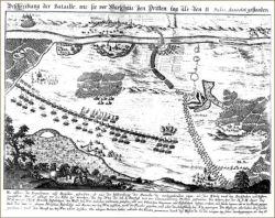 Mapa bitwy pod Warszawą trzeciego dnia